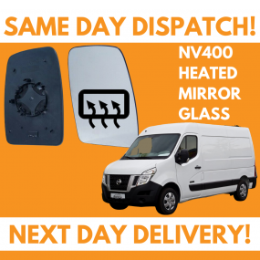 Nissan NV400 2011-2020 Heated Door Wing Mirror Glass UK Right Drivers Side