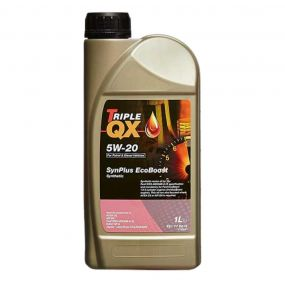 Car Engine Oil Triple QX SynPlus Ford Ecoboost SAE 5W20 Fully Synthetic 1L 1 Litre