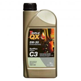 Car Engine Oil Triple QX SynPlus SAE 5W30 C3 Fully Synthetic Low Saps 1L 1 Litre
