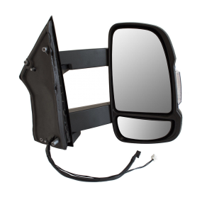 Citroen Relay 2006-2020 Long Arm Electric Black Wing Door Mirror Right Side