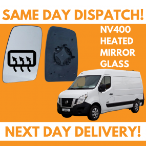 Nissan NV400 2011-2020 Heated Door Wing Mirror Glass UK Left Passenger Side