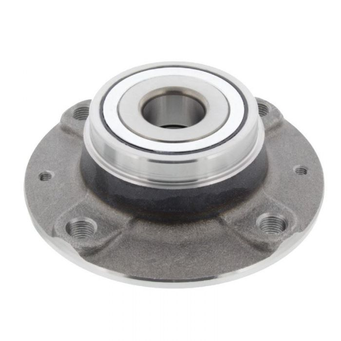 Silver Wheel Bearing on  a White Background