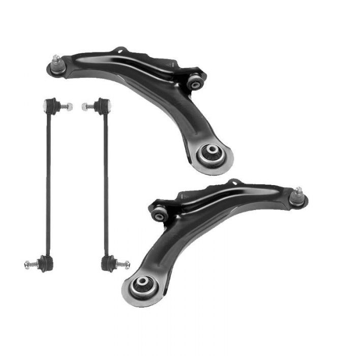 Renault Scenic Mk2 2003-2009 Front Lower Wishbones Arms And Drop Links Pair
