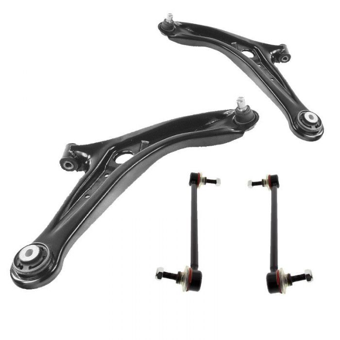 Mazda 2 2007-2015 Front Lower Wishbones Arms And Drop Links Pair